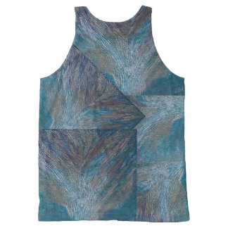 Unique Designer tank top in blue hues by DAL