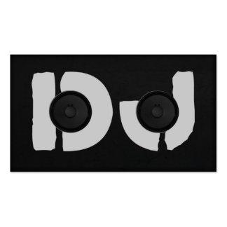unique dj initials speaker business card