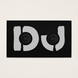 unique dj initials speaker business card