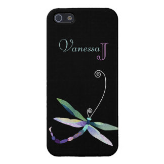 Unique Dragonfly + Monogram iPhone 5/5S Cover