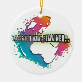 Unique Earth Day Circle Ornament