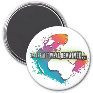 Unique Earth Day Round Magnet