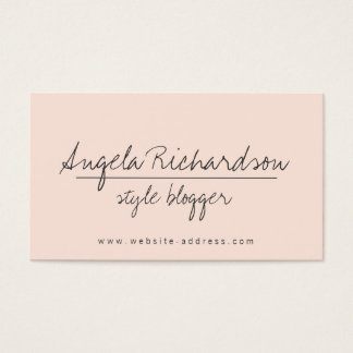 Unique Edgy Handwritten Style Bloggers, Crafters 2 Business Card