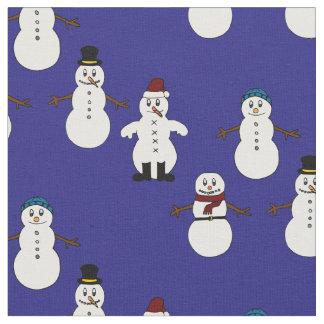 Unique fabric blue cute snowman Christmas