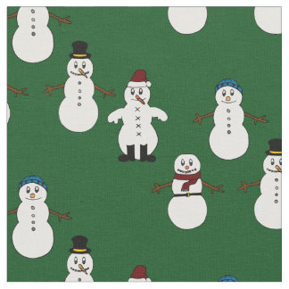 Unique fabric green cute snowman Christmas