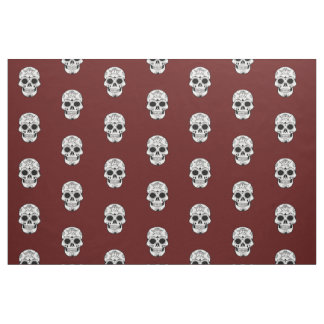 Unique fabric Retro red skull  rockabilly