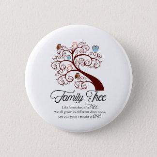 Unique Family Tree Design 2 Inch Round Button