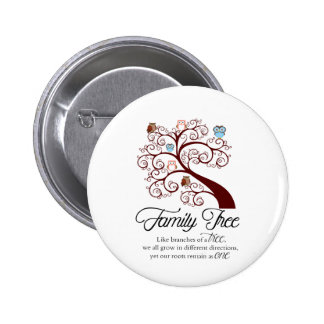 Unique Family Tree Design 2 Inch Round Button