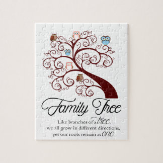 Unique Family Tree Design Jigsaw Puzzle