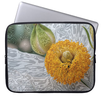 """Unique Floral Laptop Sleeve: 15"""" or 13"""" or 10"""" Laptop Sleeve"""