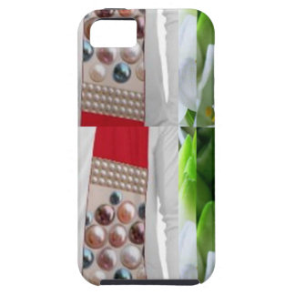 UNIQUE FLOWERS buds Fabric PEARLS lowprice gifts iPhone 5 Cover