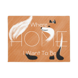 Unique Fox Design Doormat