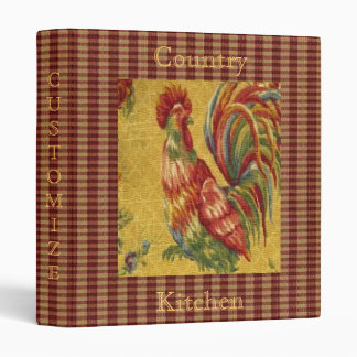 Unique! French Country Rooster Avery Binder