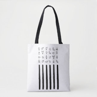 Unique Friendly to all artsy American Flag Tote