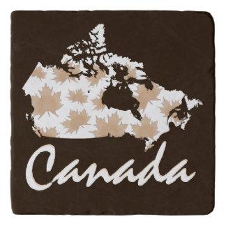 Unique fun Canadian Maple Canada trivet brown