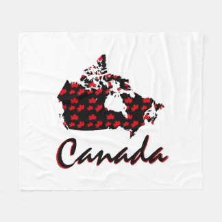 Unique fun Canadian red Maple Canada blanket