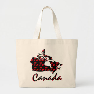 Unique fun Canadian red Maple Canada tote bag