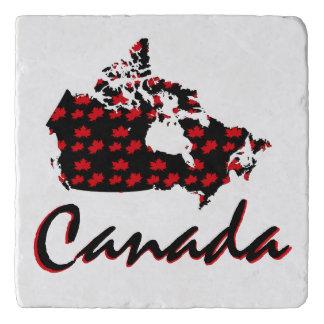 Unique fun Canadian red Maple Canada trivet