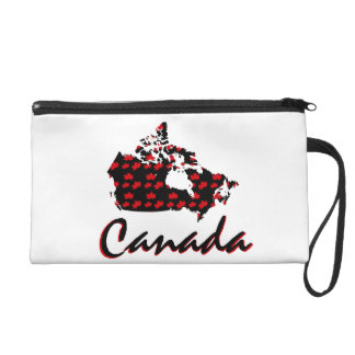 Unique fun Canadian red maple wristlet or cosmetic
