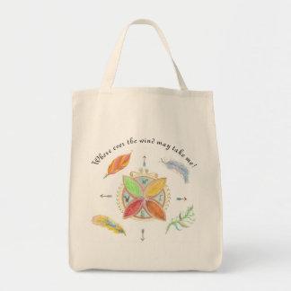 Unique fun compass design! tote bag