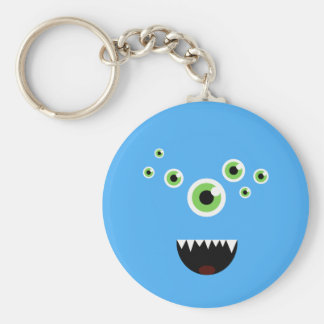 Unique Funny Crazy Cute Blue Monster Keychain