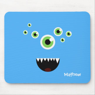 Unique Funny Crazy Cute Blue Monster Mouse Pad