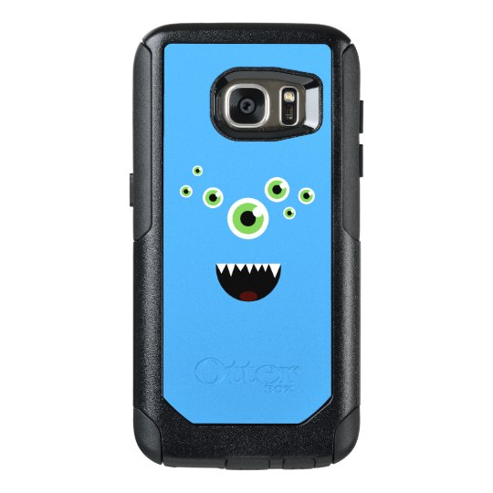 Unique Funny Crazy Cute Blue Monster OtterBox Samsung Galaxy S7 Case