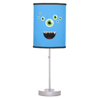 Unique Funny Crazy Cute Blue Monster Table Lamp