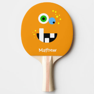 Unique Funny Crazy Oragne Monster Ping Pong Paddle