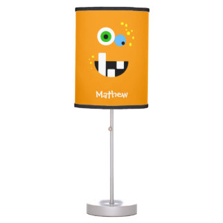 Unique Funny Crazy Oragne Monster Table Lamp