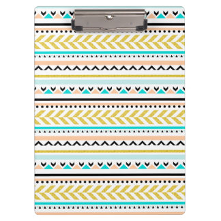 Unique Geometric Aztec Inspired Pattern Clipboards