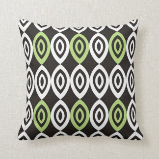 Unique Geometric Pillows - Green Black And White