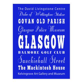 Unique Glasgow, Scotland Gift Idea Postcard