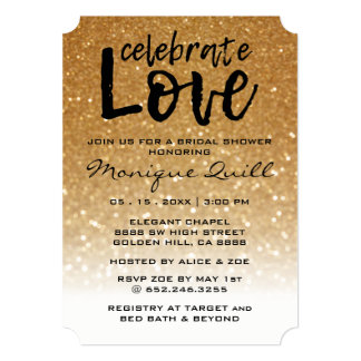 Unique Glitter & Gold | Wedding Arrows Invitation