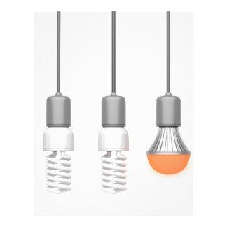 Unique glowing LED light Letterhead
