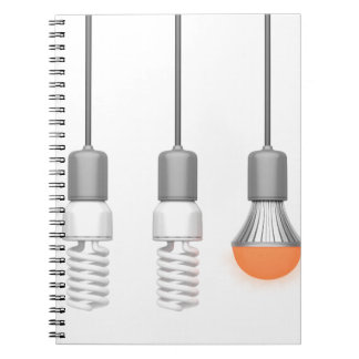 Unique glowing LED light Note Books