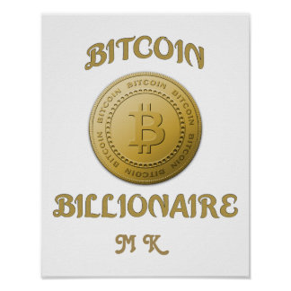 Unique Gold Bitcoin Logo Symbol Cryptocurrency Poster
