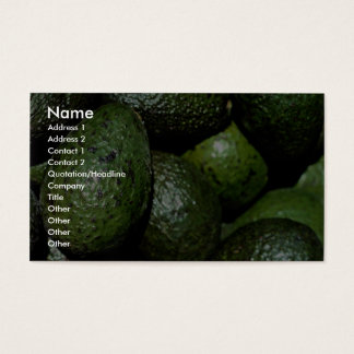Unique Green avocado Business Card