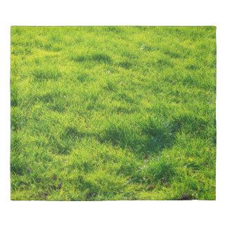 Unique Green Grass Print King Duvet Cover
