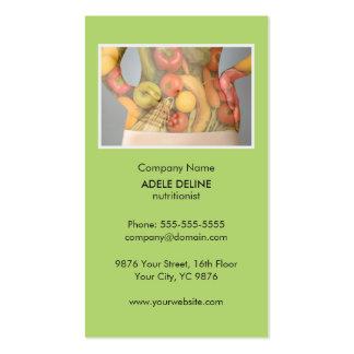 Unique Green Nutritionist Diet Health Business Card