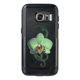Unique Green Orchid style Samsung Cases