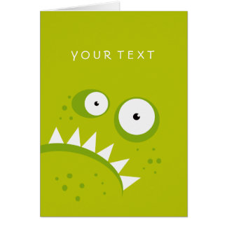 Unique Grumpy Angry Funny Scary Green Monster Card