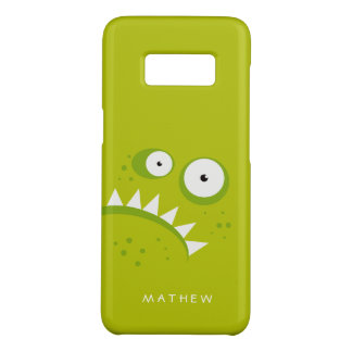 Unique Grumpy Angry Funny Scary Green Monster Case-Mate Samsung Galaxy S8 Case