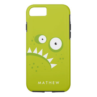 Unique Grumpy Angry Funny Scary Green Monster iPhone 8/7 Case
