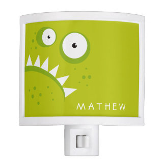 Unique Grumpy Angry Funny Scary Green Monster Night Light