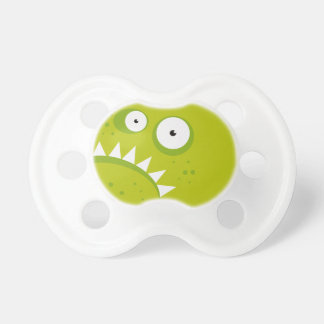 Unique Grumpy Angry Funny Scary Green Monster Pacifier