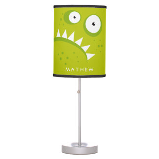 Unique Grumpy Angry Funny Scary Green Monster Table Lamp