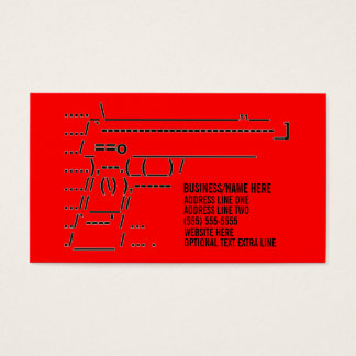 Unique Gun Graphic Business Card