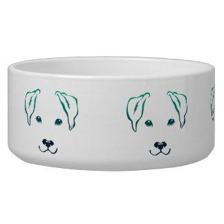 Unique Hand Drawn 5 Lines Dog Large Pet Bowl