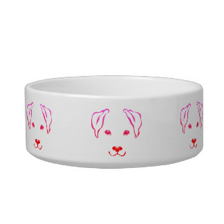 Unique Hand Drawn 5 Lines Dog Medium Pet Bowl